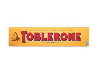 Шоколад Toblerone молочний із нугою з меду та мигдалю, 100 г