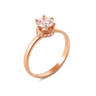 Золотое кольцо с фианитами Swarovski Zirconia. Артикул 12144/SW