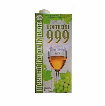 Вино Портвин 999 біле/червоне 1 л