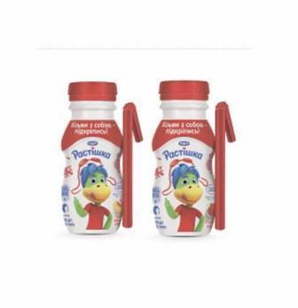 Йогурт питний абрикос/персик або полуниця Растішка 185 г