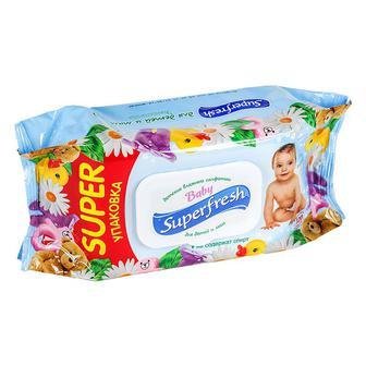 Салфетки влажные детские Super Fresh 72шт