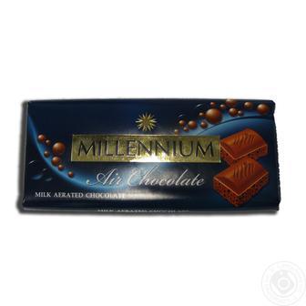 Шоколад Мілленіум Преміум чорний, Молочний, Пористий 90г