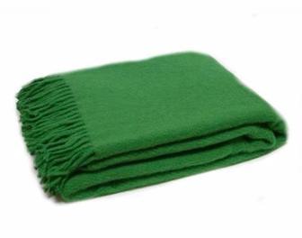 Плед акриловий з китицями зелений 150x200 см