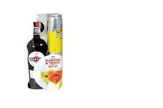 Набор Вермут Martini Rosso, 15%, 0,5л, тоник