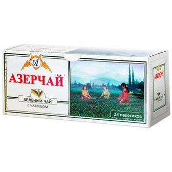 Чай Azercay зелений з чебрецем 25пак