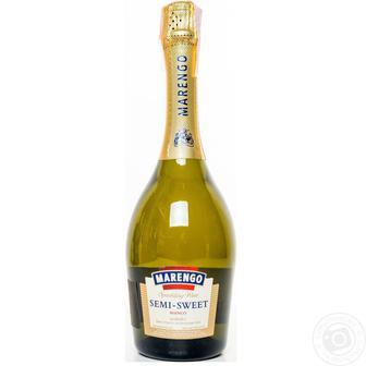Вино игристое Маренго 13,5%, белое п/сл, 0,75 л