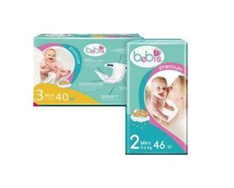 Подгузники детские Bebis Soft 34,36,40шт