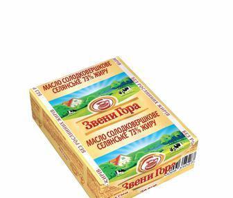 Масло солодковершкове Селянське 73%  Звенигора 200 г