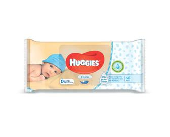 Серветки вологі Huggies Pure, 56 шт