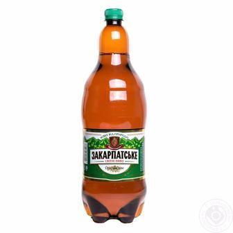 Пиво Закарпатське світле ППБ 2л