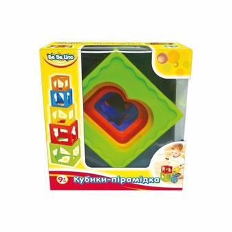 Кубики-пірамідки BeBeLino