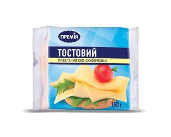 Сир плавлений «Тостовий» «Премія®, 150г