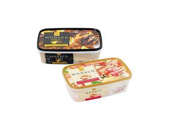 Морозиво Monaco Dessert Полуничний чізкейк / Collection «Шоколад-апельсин Три Ведмед 500 г