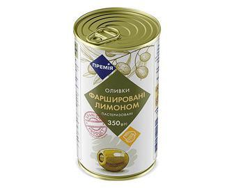 Оливки зелені фаршировані лимоном «Премія»® 350г