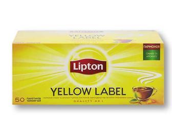 Чай Yellow Label Tea, чорний Lipton 50 ф/п х 2 г