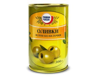 Оливки зелені без кісточки «Повна Чаша»® 300г
