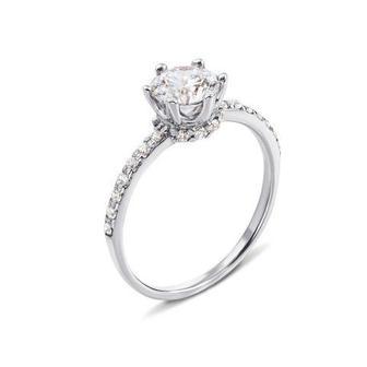 Золотое кольцо с фианитами Swarovski Zirconia. Артикул 12310/02/1/249
