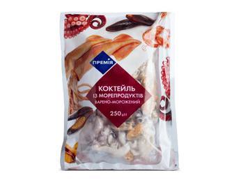 Коктейль з морепродуктів варено-морожений «Премія»® 250г