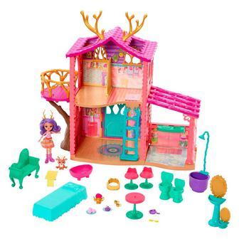 Кукольный набор Enchantimals Лесной домик Оленицы Денисы