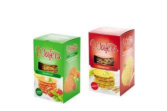 Вафлі «Wafers» Баварські пшенично-житні з коріандром/Італійські з томатом і базиліком, без начинки, солоні Своя лінія 85 г