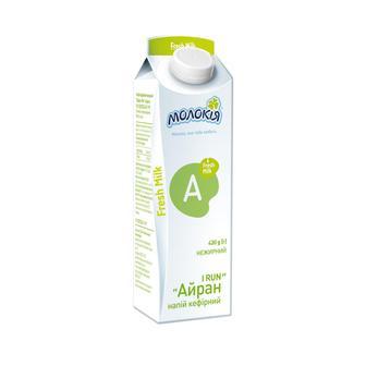 Напій кефірний Айран нежирний Молокія 430г