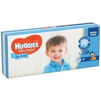 Підгузки Huggies Ultra Comfort для хлопч. 5 12-22кг 56шт.