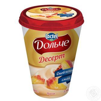 Десерт сирковий Дольче 3,4% персик, полуниця, чорниця President 400г