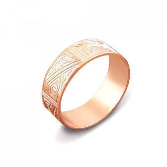 Обручальное кольцо с алмазной гранью. Артикул 1070/16