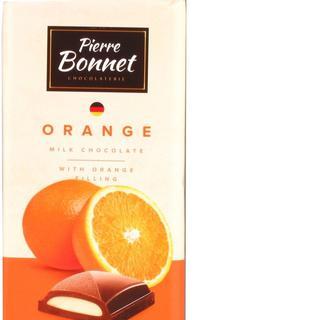 Шоколад молочний з апельсиновою начинкою, молочний з чорничною начинкою, Pierre Bonet,100 г