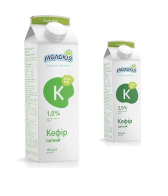 Скидка 33% ▷ Кефір 1%, 2,5% Молокія 900г