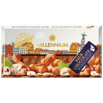 Шоколад молочний з цільним горіхом Millennium 100г