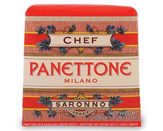 Кекс Chef D'Italia Panettone класичний з родзинками та цукатами, 908г