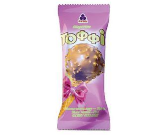 Морозиво «Рудь» «Тоффі» ріжок, 70г