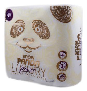 Папір туалетний Сніжна панда Luxury Pure, 4 шт
