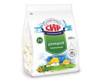 Сир кисломолочний Білоцерківський Домашній традиційний 5% жиру, 400 г