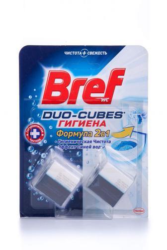 Чистящие кубики для туалета Bref Гигиенические, 100г