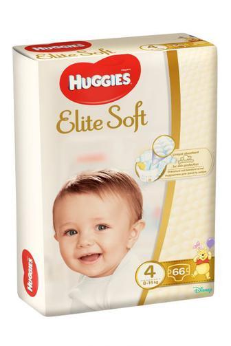 Подгузники Huggies Elite Soft р4 8-14 кг 66 шт