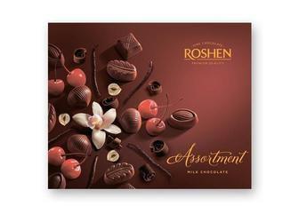 Скидка 15% ▷ Цукерки Assortment молочний шоколад, Рошен, 145 г