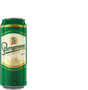 Пиво світле 4% з/б, Staropramen, 0,5 л