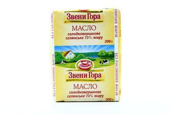 Масло слодковершкове селянське, 73%жиру, Звени Гора