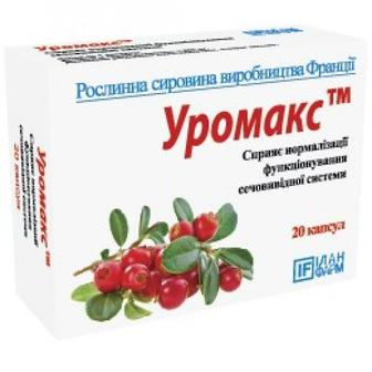 Уромакс капсулы №20, Илан Фарм