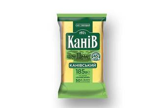 Сир твердий Канiвський, 50%  Канів 1971  185 г