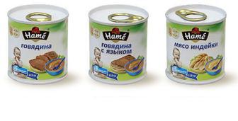 Детское мясное пюре Hame