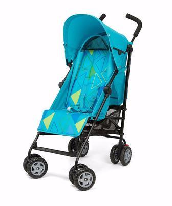 Коляска для прогулянок Nanu бірюзового кольору з принтом геометричних фігур від Mothercare