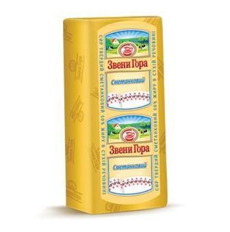 Сыр твердый Сметанковый Звени Гора 50%, 100 г