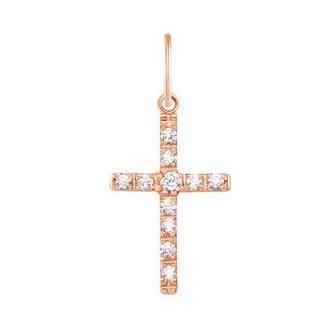 Золотой крестик с фианитами. Артикул 3271
