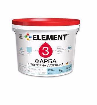 Фарба інтер'єрна Element 3 латексна білий 10 л