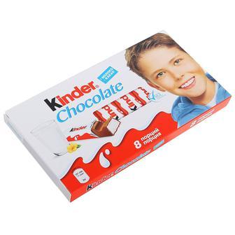 Кіндер шоколад 8 порцій 100г