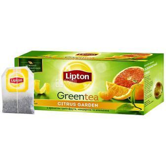 ЧАЙ зелений з ароматом цитрусу, 25 пак. LIPTON