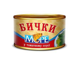 Бички «Море» обсмажені в томатному соусі, 230 г